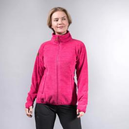 Куртка женская Bergans Hareid Fleece W Jacket NoHood | Bougainvillea Melange | Вид 1