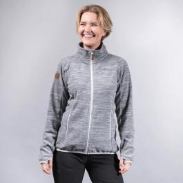 Куртка женская Bergans Hareid Fleece W Jacket NoHood | Aluminium Melange | Вид спереди