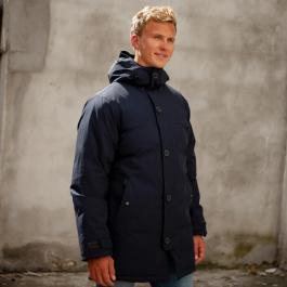 Куртка мужская Bergans Oslo Down Parka | Dark Navy Melange | Вид 1
