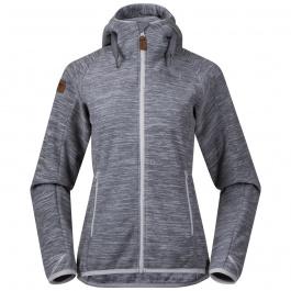 Куртка женская Bergans Hareid Fleece W Jacket | Aluminium Melange | Вид спереди