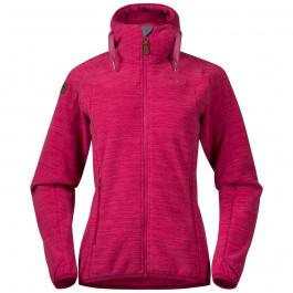 Куртка женская Bergans Hareid Fleece W Jacket   Bougainvillea Melange   Вид спереди