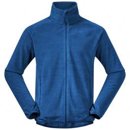 Куртка мужская Bergans Hareid Fleece Jacket NoHood | Dark Riviera Blue Mel | Вид 1