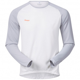 Футболка Bergans Slingsby Long Sleeve | White/Aluminium/Pumpkin | Вид спереди