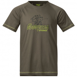 Футболка Bergans Tee | Green Mud/Sprout Green/Seaweed | Вид cпереди