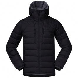 Куртка мужская Bergans Røros Down Hybrid Jkt | Black/Solid Dark Grey | Вид 1