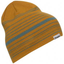Шапка мужская Bergans Striped Beanie | Golden Yellow/Lt Forest Frost | Вид 1