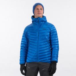Куртка мужская Bergans Senja Down Light Jacket W/Hood  | Strong Blue/Solid Dark Grey | Вид 1