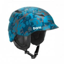 Горнолыжный шлем детский Bern Camino | Matte Blue Camo Print | Вид 1