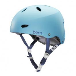 Шлем для скейтборда женский Bern Brighton HardHat | Matte Bluebird | Вид 1