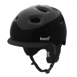 Горнолыжный шлем женский Bern Cougar II Zipmold | Gloss Black | Вид 1