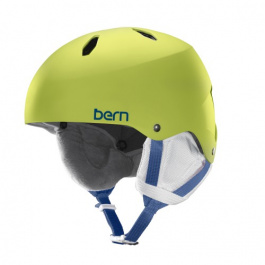 Горнолыжный шлем подростковый Bern Diabla EPS | Satin Lime Green | Вид 1