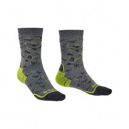Носки мужские Bridgedale Midweight Merino Endurance Boot Pattern | Grey/Lime | Вид 1