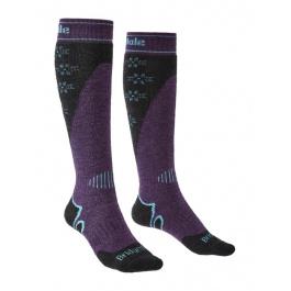 Носки женские Bridgedale Midweight Plus Ski Merino Perfomance Over Calf Wmn | Dark Purple | Вид 1