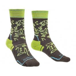 Носки женские Bridgedale Hike Midweight Merino Perfomance Boot Wmn Pattern | Brown/Lime | Вид 1
