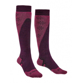 Носки женские Bridgedale Midweight Plus Ski Merino Perfomance Over Calf Wmn | Plum/Berry | Вид 1