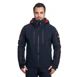 Куртка Descente ISAK | Black/Electric Red | Вид спереди