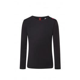 Термобелье Descente MEN'S BASE LAYER TOP | Black/Electric Red | Вид 1