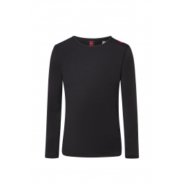 Термобелье мужское Descente MEN'S BASE LAYER TOP | Black/Electric Red | Вид 1