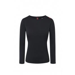 Термобелье женское Descente WOMEN'S BASE LAYER TOP | Black/Electric Red | Вид 1