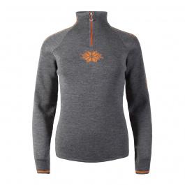 Пуловер женский Dale of Norway Geilo Feminine | Smoke/Orange peel | Вид 1