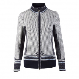 Куртка женская Dale of Norway Viktoria Feminine jacket | Navy/Ice Blue/Grey Mel/Off white | Вид 1