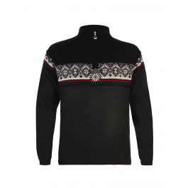 Свитер Dale of Norway St. Moritz Masculine | Dark Charcoal/Raspberry/Black/Off white | Вид 1