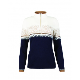 Пуловер женский Dale of Norway St. Moritz Feminine | Navy/Beige | Вид 1