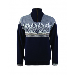 Пуловер Dale of Norway Glittertind Masculine WP | Navy/Mountainstone/Light Charcoal/Off white | Вид 1