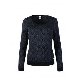 Свитер женский Dale of Norway Sonja Feminine sweater | Black/Dark Charcoal | Вид 1