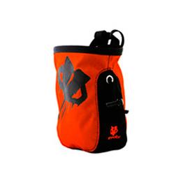 Мешочек для магнезии Evolv Roundtangular Drip Logo Chalkbag | Fire Orange | Вид 1