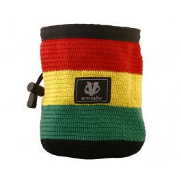 Мешочек для магнезии Evolv Knit Chalk Bag | Rasta | Вид 1