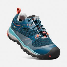 Кроссовки подростковые KEEN Terradora Low WP Y | Aqua Sea/Coral | Вид 1