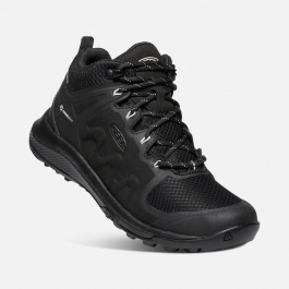 Ботинки женские KEEN Explore Mid WP W | Black/Star White | Вид 1