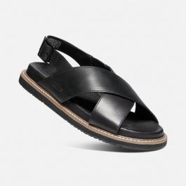 Сандалии женские KEEN Lana Cross Strap Sandal W | Black/Black | Вид 1