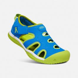 Сандалии детские KEEN Stingray Y   Brilliant Blue/Chartreuse   Вид 1