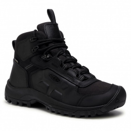 Ботинки мужские KEEN BASIN RIDGE MID WP M | Black/Raven | Вид 1
