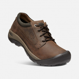 Кроссовки KEEN Austin Casual WP M | Chocolate Brown/Black Olive | Вид 1