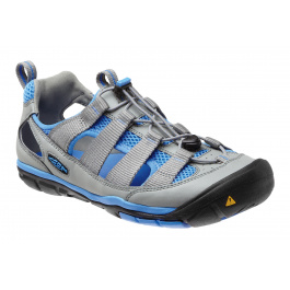 Сандалии женские KEEN Gallatin CNX | Neutral Gray/Azure Blue | Вид 1