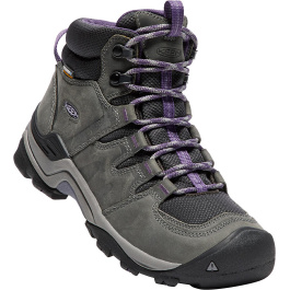 Ботинки женские KEEN Gypsum II Mid WP W | Earl Grey/Purple Plum | Вид 1