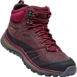 Ботинки женские KEEN Terradora Leather Mid WP W | Wine/Rododend | Вид 1