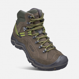 Ботинки KEEN Galleo Mid WP M | Black/Greenery | Вид 1