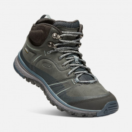 Ботинки женские KEEN Terradora Leather Mid WP W | Tarragon/Turbulence | Вид 1
