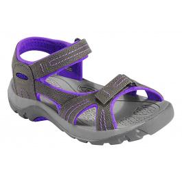 Сандалии подростковые KEEN Jura Leather | Gargoyle/Ultra Violet | Вид 1