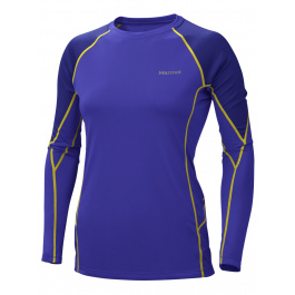Термобелье женское Marmot Wm's ThermalClime Pro LS Crew | Electric Blue/Midnight Purple | Вид 1