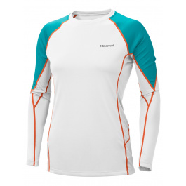 Термобелье женское Marmot Wm's ThermalClime Pro LS Crew | White/Sea Glass | Вид 1