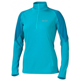 Термобелье женское Marmot Wm'S Thermalclime Pro 1/2 Zip | Sea Breeze/Aqua Blue | Вид 1