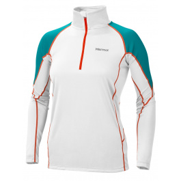 Термобелье женское Marmot Wm'S Thermalclime Pro 1/2 Zip | White/Sea Glass | Вид 1