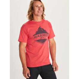 Футболка мужская Marmot Mono Ridge Tee SS | Red Heather | Вид 1