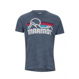 Футболка Marmot Coastal Tee SS | Navy Heather | Вид 1