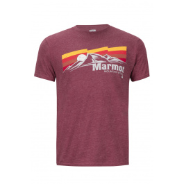 Футболка Marmot Sunsetter Tee SS | Burgundy Heather | Вид 1